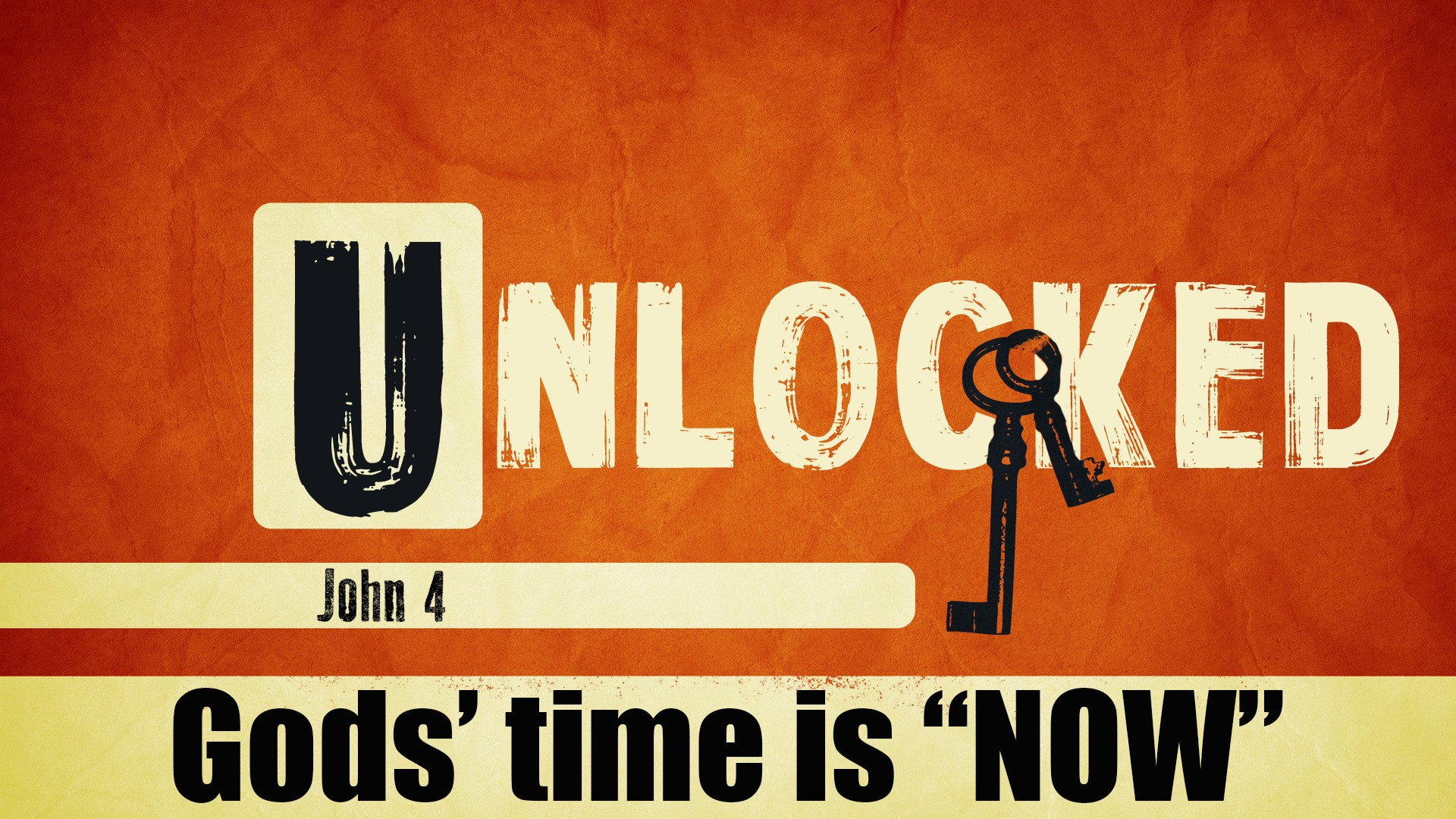 Unlocked Part 3 - God's Time is Now